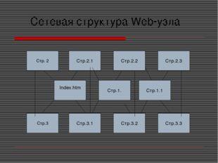 Сетевая структура Web-узла