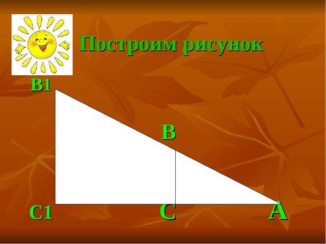B1 B C1 C А Построим рисунок