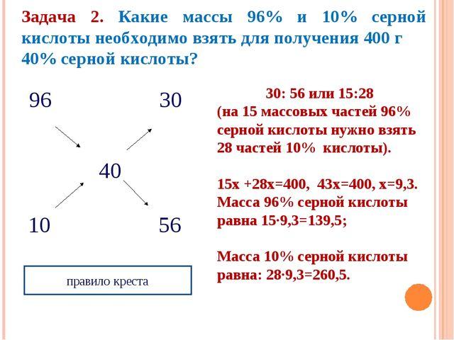 96 30  40 10 56 правило креста Задача 2. Ка...