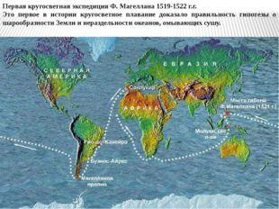 Первая кругосветная экспедиция Ф. Магеллана 1519-1522 г.г. Это первое в истор