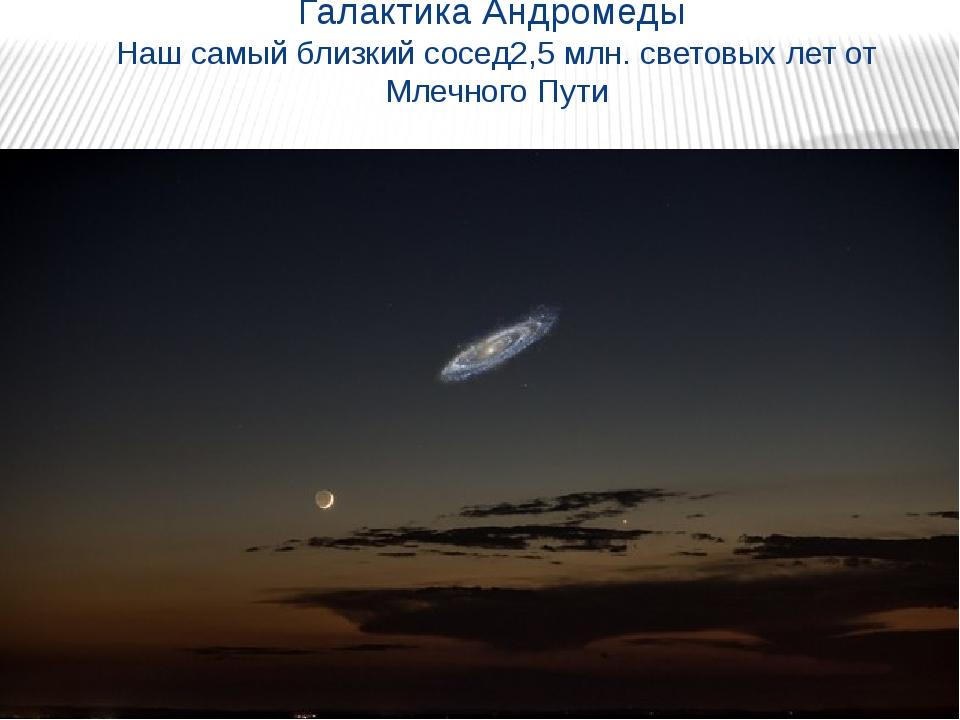 Галактика Андромеды Наш самый близкий сосед2,5 млн. световых лет от Млечного...