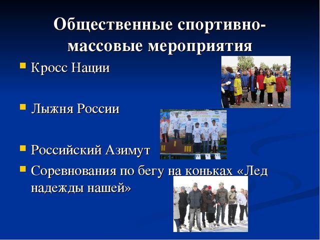 Общественные спортивно-массовые мероприятия Кросс Нации Лыжня России Российск...