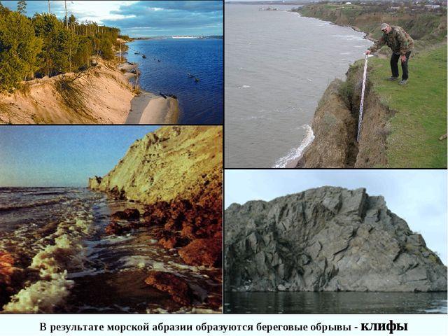 В результате морской абразии образуются береговые обрывы - клифы