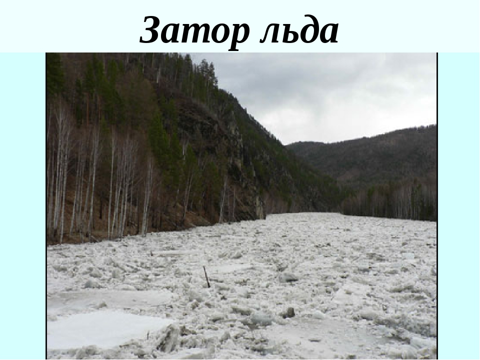 Затор льда