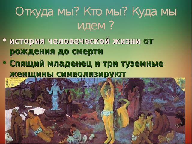 . Откуда мы? Кто мы? Куда мы идем ? история человеческой жизни от рождения до...