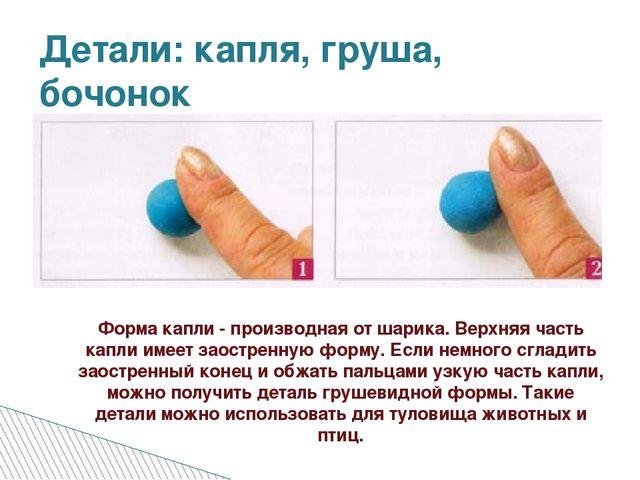 Детали: капля, груша, бочонок Форма капли - производная от шарика. Верхняя ча...