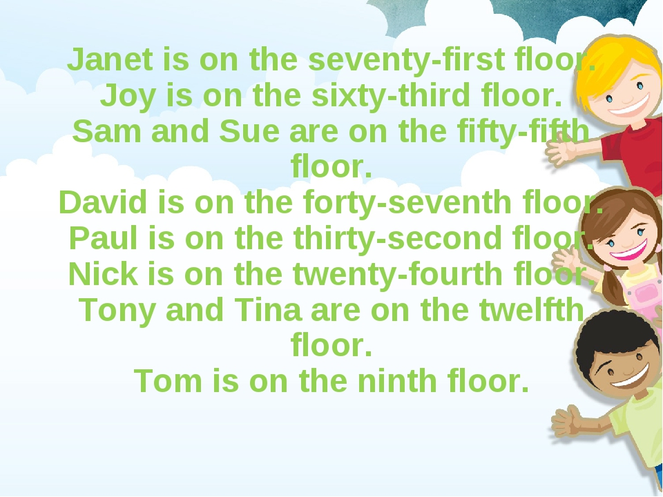 Janet is on the seventy-first floor. Joy is on the sixty-third floor. Sam and...