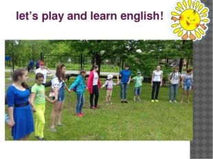 let's play and learn english!