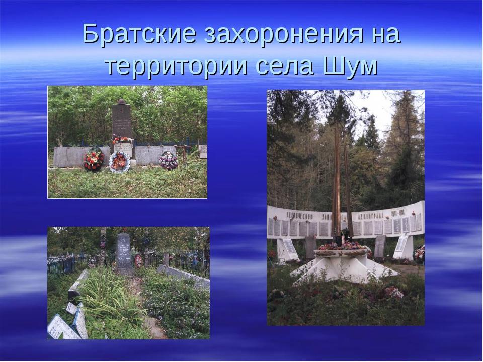 Братские захоронения на территории села Шум
