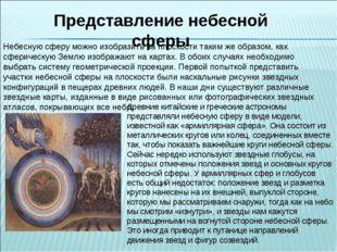 Представление небесной сферы Небесную сферу можно изобразить на плоскости так