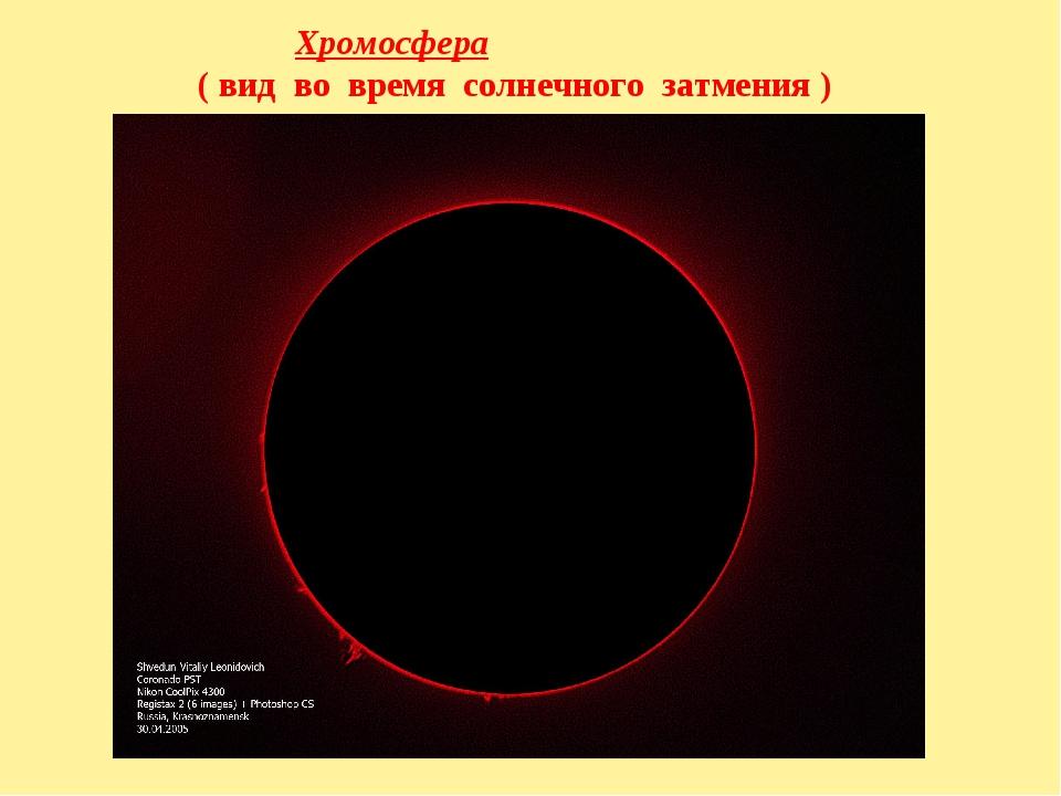Хромосфера ( вид во время солнечного затмения )