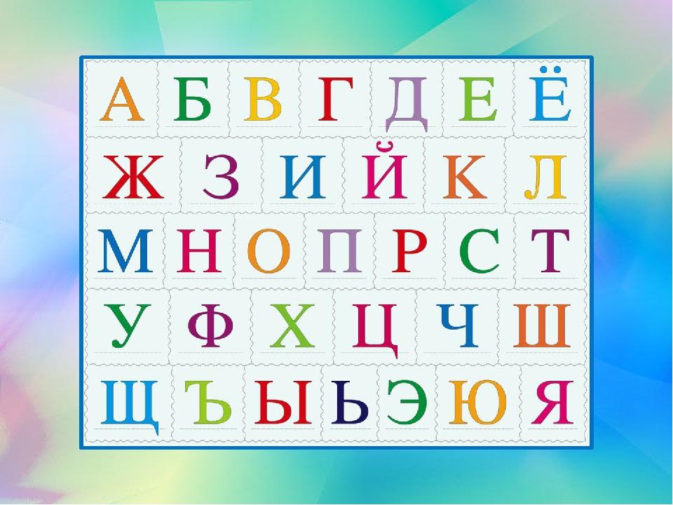Алфавит русский с картинками и номерами домов