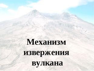 Механизм извержения вулкана