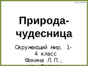 Природа-чудесница Окружающий мир, 1-4 класс Фокина Л.П., ст. Евсино Новосибир