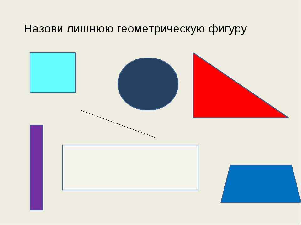 Назови лишнюю геометрическую фигуру
