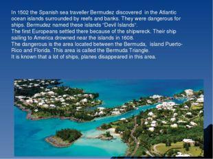 In 1502 the Spanish sea traveller Bermudez discovered in the Atlantic ocean i