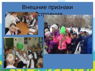 Внешние признаки настроения. FokinaLida.75@mail.ru