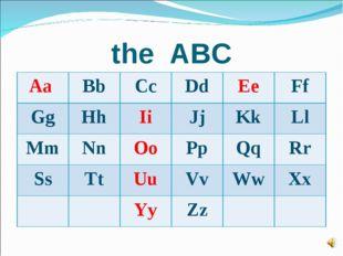 the ABC Aa BbCcDdEeFf GgHhIiJjKkLl MmNnOoPpQqRr SsTtUuVvWw