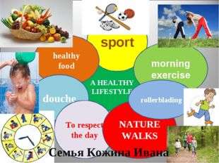 A HEALTHY LIFESTYLE sport morning exercise healthy food douche To respect the