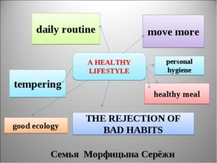 A HEALTHY LIFESTYLE move more daily routine tempering THE REJECTION OF BAD HA