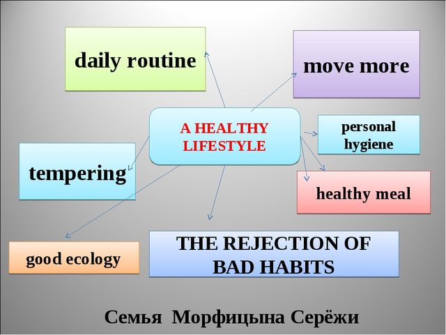 A HEALTHY LIFESTYLE move more daily routine tempering THE REJECTION OF BAD HA...