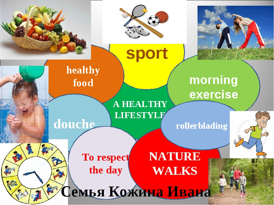 A HEALTHY LIFESTYLE sport morning exercise healthy food douche To respect the...