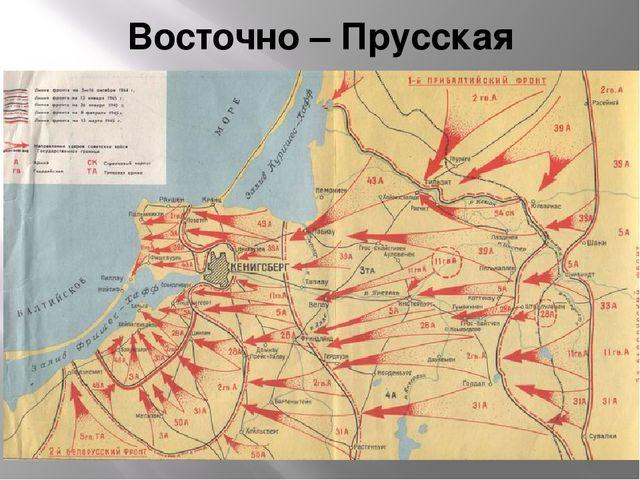 Восточно – Прусская операция
