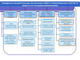 Гражданско-патриотическое воспитание в МКОУ «Новоусманская СОШ № 3» ведется п