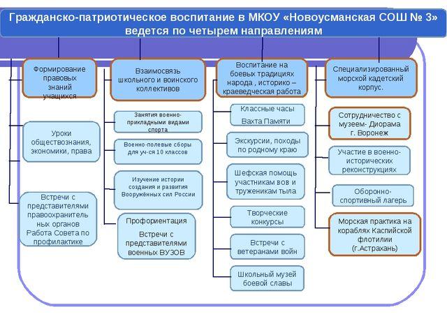 Гражданско-патриотическое воспитание в МКОУ «Новоусманская СОШ № 3» ведется п...