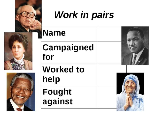 Work in pairs