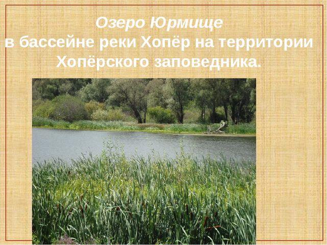 Озеро Юрмище в бассейне реки Хопёр на территории Хопёрского заповедника.