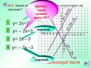 1 2 3 4 5 6 7 -7 -6 -5 -4 -3 -2 -1 7 6 5 4 3 2 1 -1 -2 -3 -4 -5 -6 -7 у= – 2х