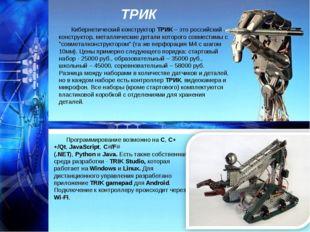 ТРИК Кибернетический конструкторТРИК– это российский конструктор, металличе