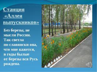 Станция «Аллея выпускников» Без березы, не мысли России. Так светла по-славян