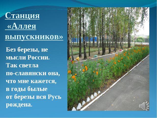 Станция «Аллея выпускников» Без березы, не мысли России. Так светла по-славян...