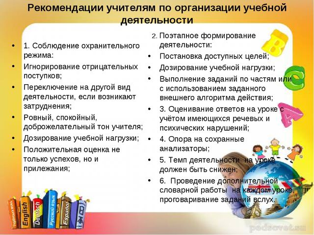 Рекомендации учителям по организации учебной деятельности 1. Соблюдение охран...