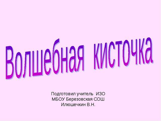 Подготовил учитель ИЗО МБОУ Березовская СОШ Илюшечкин В.Н.