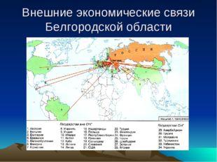 Внешние экономические связи Белгородской области