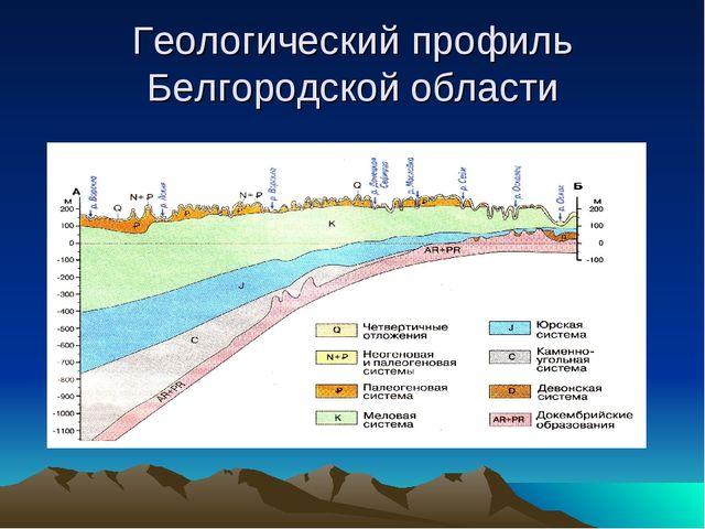 Геологический профиль Белгородской области