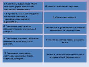 6. Сказуемое, выраженное одним глаголом в форме какого-либо наклонения, назыв