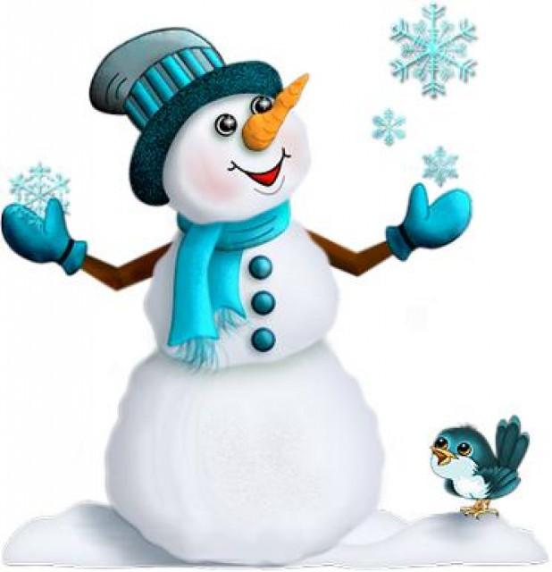 снеговик картинки для вырезания