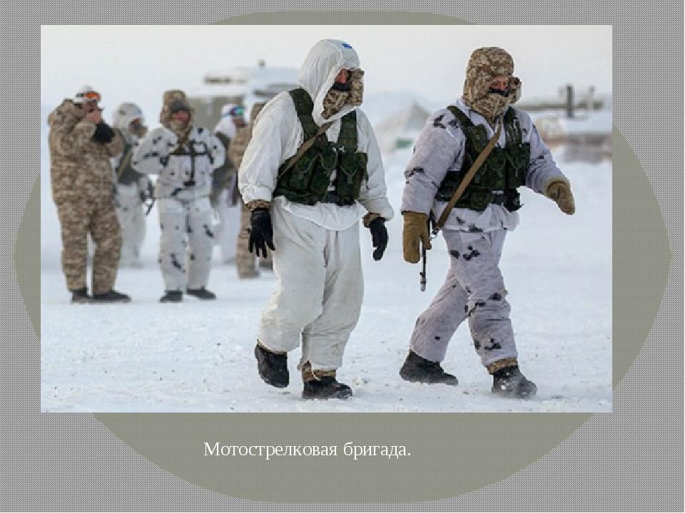 Мотострелковая бригада.