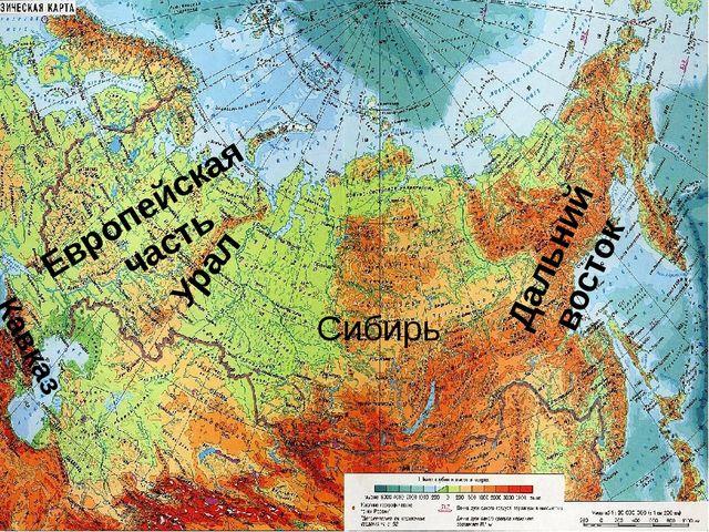 Европейская часть Сибирь Дальний восток Кавказ Урал