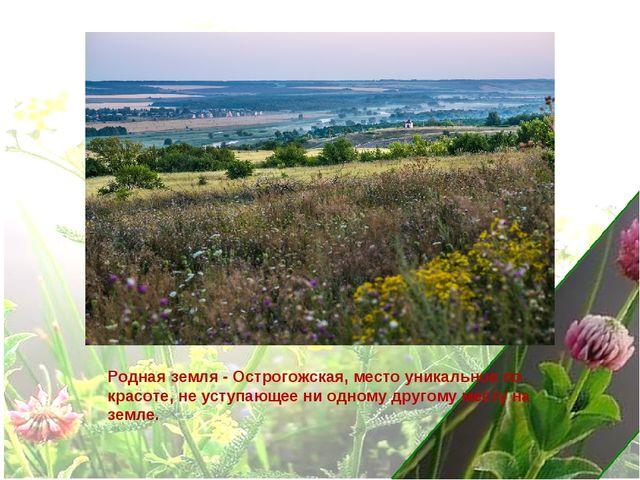 Родная земля - Острогожская, место уникальное по красоте, не уступающее ни од...