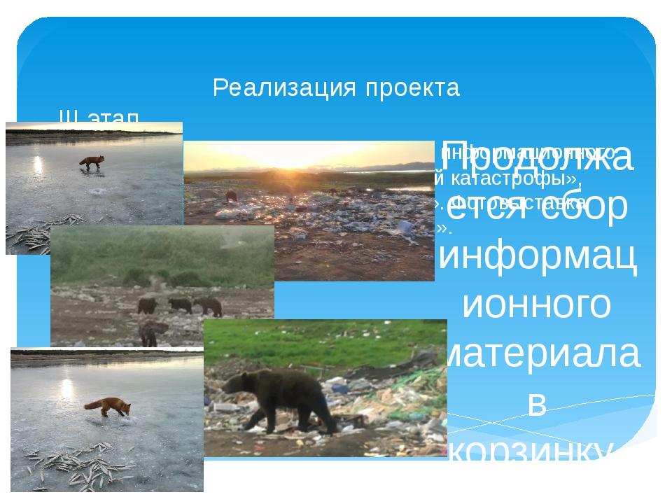 Реализация проекта III этап Сбор информационного материала «Причины экологиче...