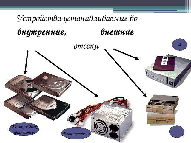 Устройства устанавливаемые во внутренние, внешние отсеки Жесткий диск (винчес...