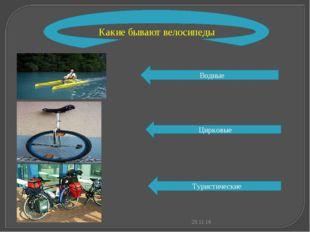 * Какие бывают велосипеды Водные Цирковые Туристические
