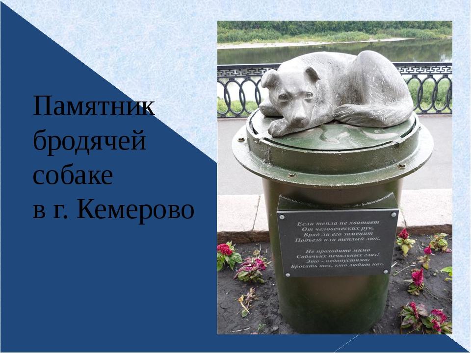 Памятник бродячей собаке в г. Кемерово