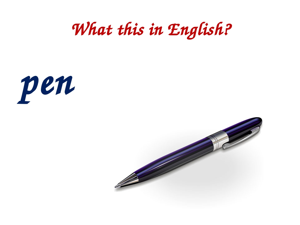 What this in English? pen