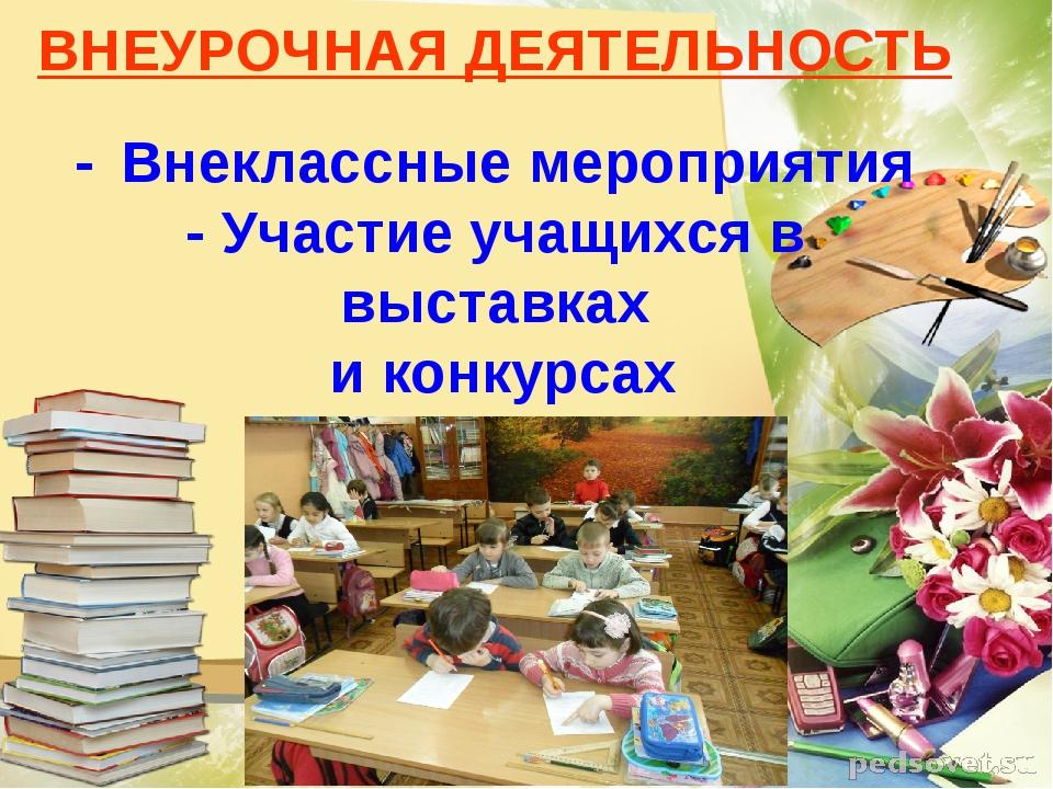ВНЕУРОЧНАЯ ДЕЯТЕЛЬНОСТЬ - Внеклассные мероприятия - Участие учащихся в выста...